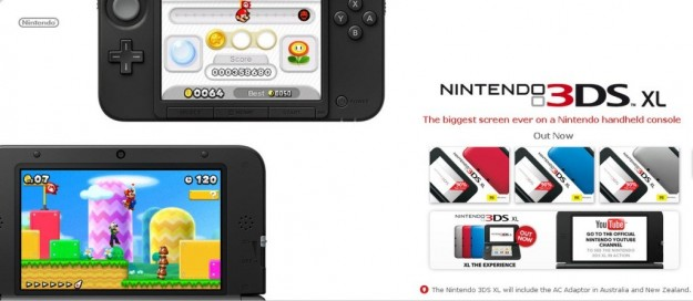 Nintendo 3DS XL visto da vicino