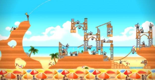 Angry Birds: un'ambientazione con il mare