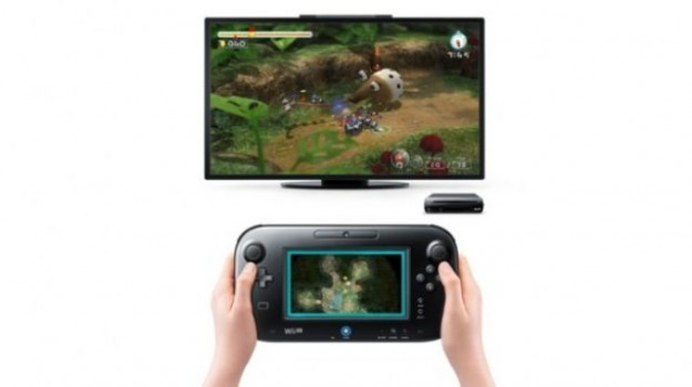 Gamepad con Nintendo Wii U collegato al televisore