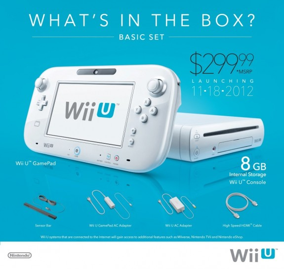 Il set di base di Nintendo Wii U