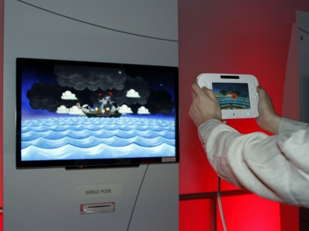 Un giocatore prova Nintendo Wii U