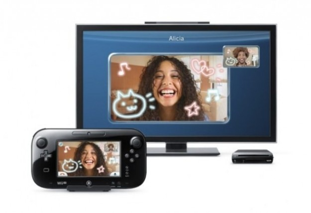 Una foto di Nintendo Wii U col televisore
