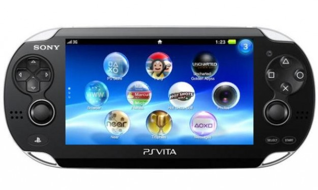 PlayStation Vita vista frontalmente