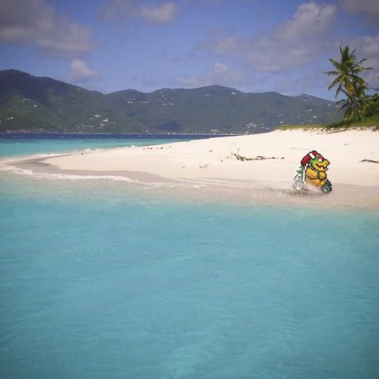 Mario Kart sulla spiaggia