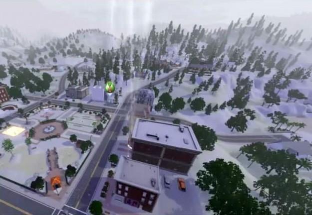 Paesaggio urbano sotto la neve