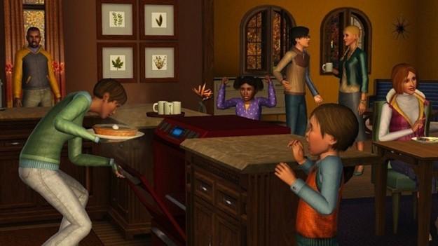 Una famiglia in The Sims 3 Stagioni