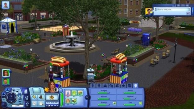 Parco in una città