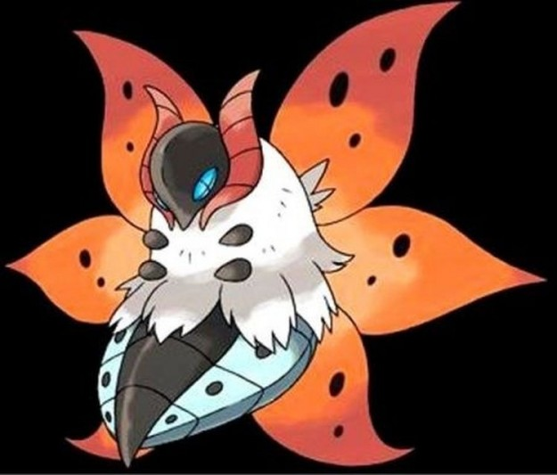 Volcarona Pokemon Bianco