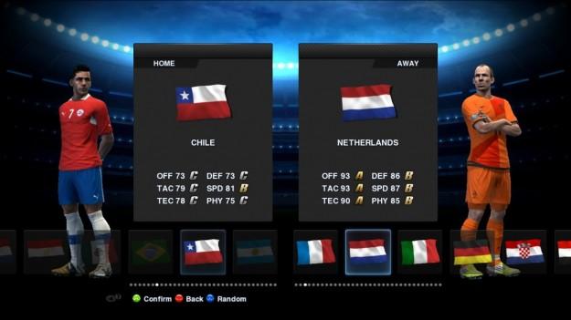Schermata di PES 2013