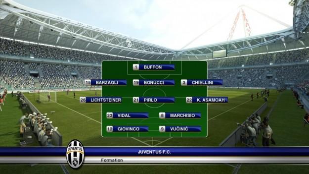 Formazione della Juventus