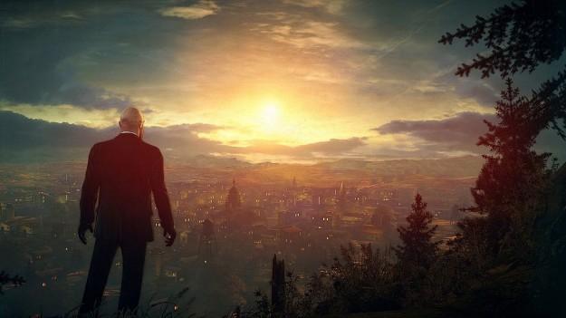 Un paesaggio al tramonto