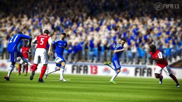 Un momento di una partita a FIFA 13