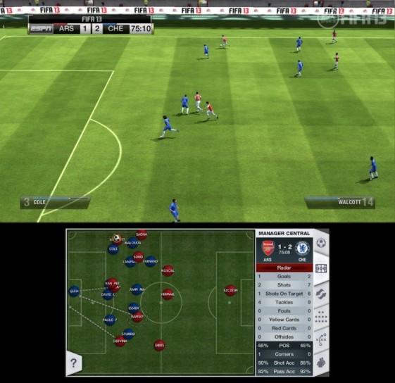 Gestione formazione e campo di gioco
