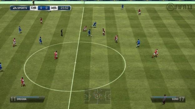 Un campo di gioco in FIFA 13