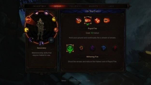 I menu del gioco