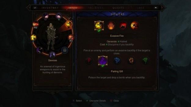Menu di Diablo 3