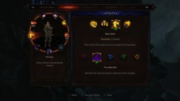 Schermata di Diablo 3 per console