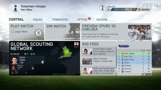 Menu di FIFA 14