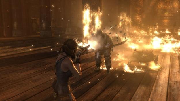 Fuoco in Tomb Raider