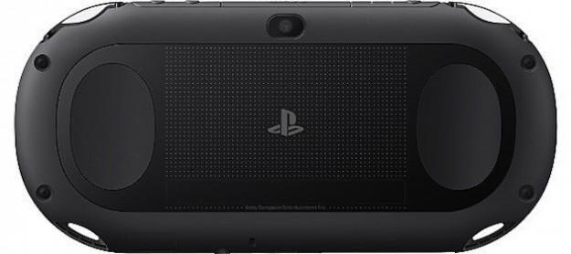 Vista posteriore della PS Vita nera