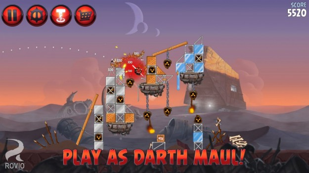 Azione in Angry Birds Star Wars 2