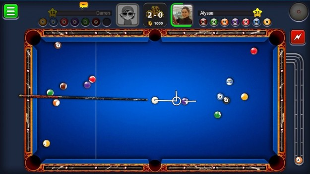 Tavolo blu in 8 Ball Pool
