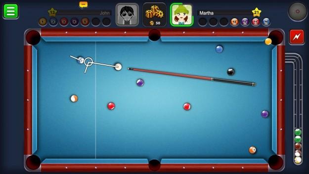 Tavolo azzurro in 8 Ball Pool