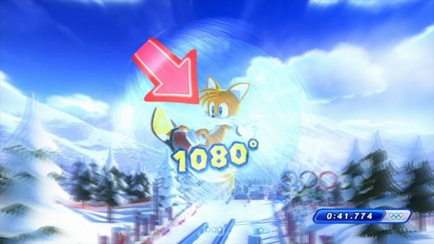 Grafica di Mario e Sonic ai Giochi Olimpici Invernali di Sochi 2014