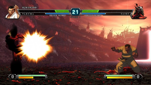 Azione in The King of Fighters XIII