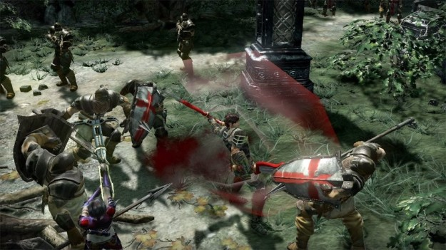 Azione in Blood Knights