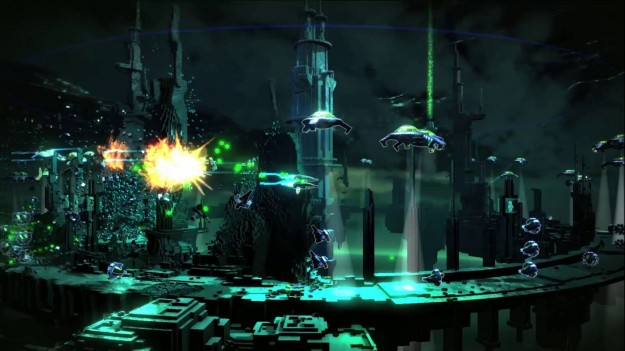 Grafica di Resogun