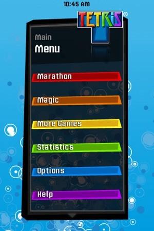 EA Tetris Menu