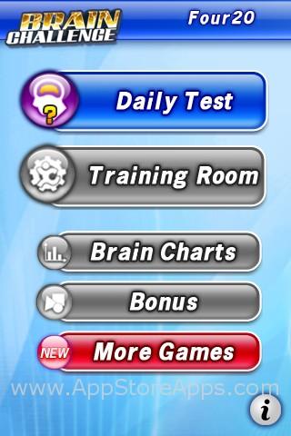 Brain Challenge Menu