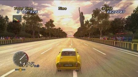 Outrun Online Arcade tramonto