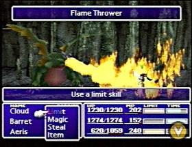 Final Fantasy 7 combattimento
