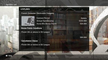 Pro Evolution Soccer 2010: Master League - menu