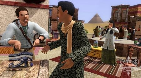 The Sims 3 World Adventures: mercato