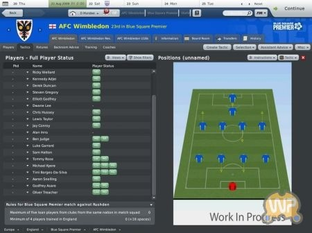 Football Manager 2010: giocatori