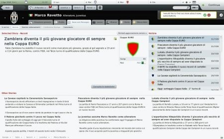 Football Manager 2010: posta