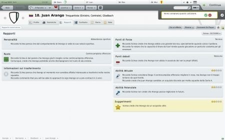 Football Manager 2010: giocatore