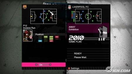 Pro Evolution Soccer 2010: menu