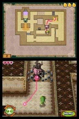 The Legend of Zelda: Spirit Tracks - percorso