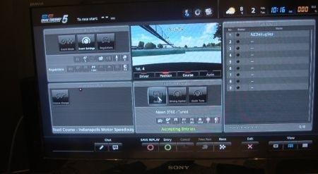 Gran Turismo 5 online: menu