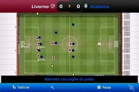 Football Manager 2010 iPhone: partita
