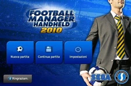 Football Manager 2010 iPhone: menu