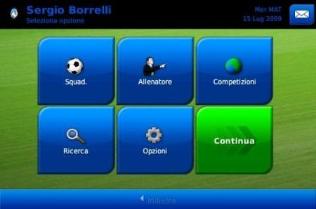 Football Manager 2010 iPhone: avvio