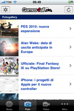 Games4all iPhone: fotogallery