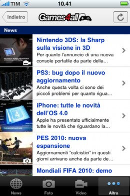 Games4All anche su iPhone!
