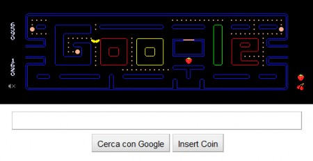 Google Pacman: game over