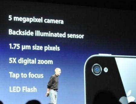 iPhone 4: fotocamera 5 megapixel